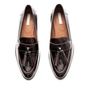 Brown Genuine Leather Tassel Loafers H&M Premium 7